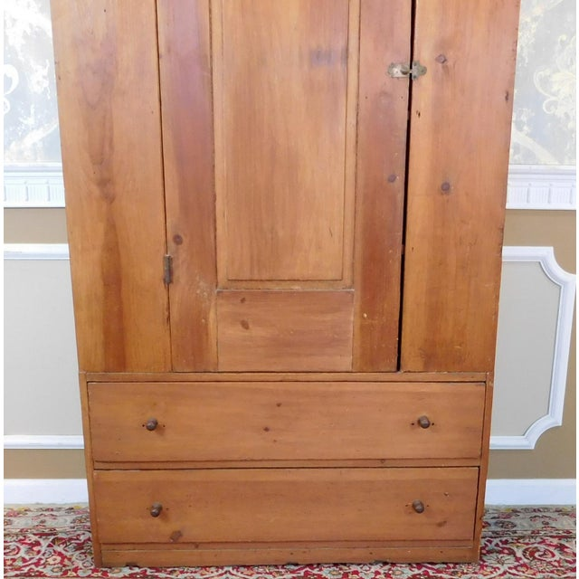 Antique 19th-Century American Pine Cabinet - Image 3 of 11