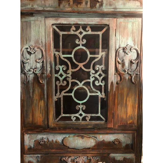 Copper and Rust Patina Cabinet - Image 2 of 8
