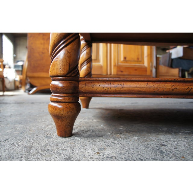 Traditional Thomasville British Gentry 3 Tier Side Table For Sale - Image 9 of 13