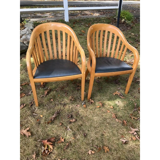 Ward Bennett for Brickel Associates Rare Library Chairs - A Pair For Sale - Image 11 of 11