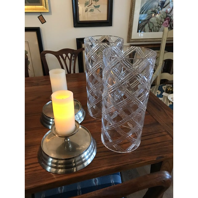 Crystal Hurricane Globes - a Pair For Sale - Image 11 of 11