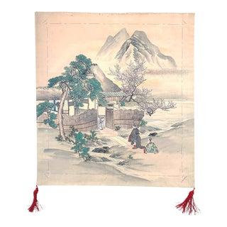 Japanese Antique Fukusa Textile Art Meiji Period For Sale