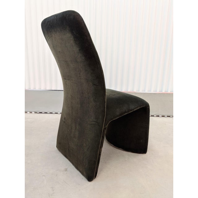 Textile Modernist Sculptural Ribbon Velvet Dining Chairs - Set of 3 For Sale - Image 7 of 13
