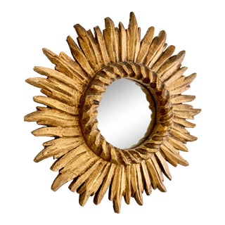 Louis XIV Rope Twist Sunburst Mirror For Sale