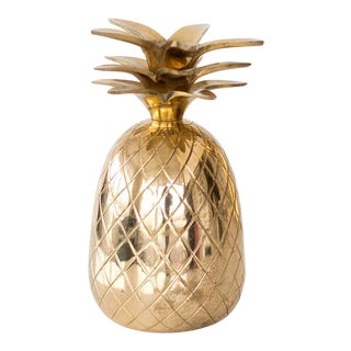 Brass Pineapple Candleholder For Sale