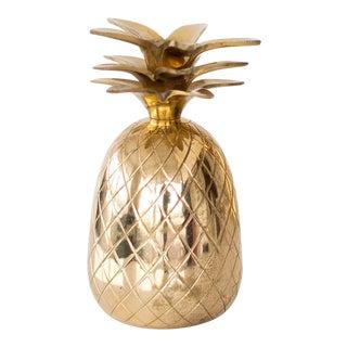 Brass Pineapple Candleholder For Sale
