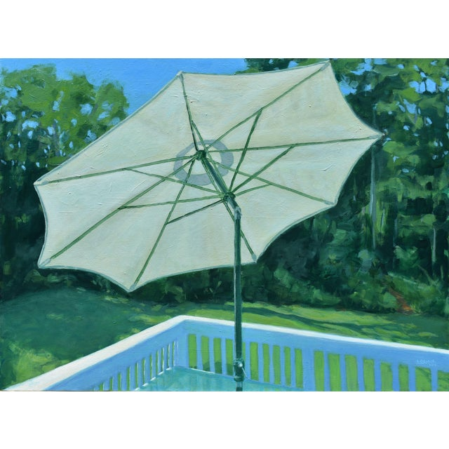 Stephen Remick Summer on the Back Deck Painting For Sale - Image 13 of 13
