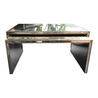 John-Richard Malcolm Nesting Coffee Tables in Eglomise Veneer - A Pair For Sale