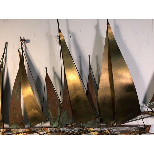 Mid-Century Modern 1970s Large Scale Boat Wall Sculpture by Curtis Jere For Sale - Image 3 of 9