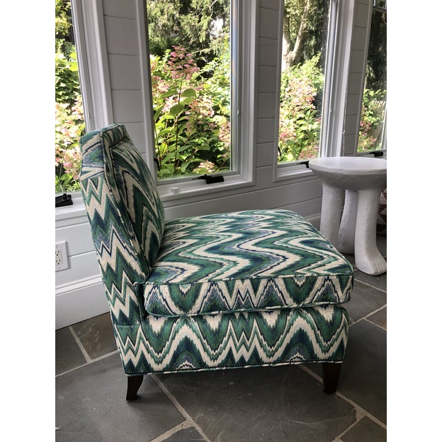 Contemporary Custom Highland House Luc Slipper Chair For Sale - Image 3 of 9