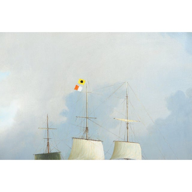 English Sail Boat - 19th Century Oil Painting - Image 5 of 12