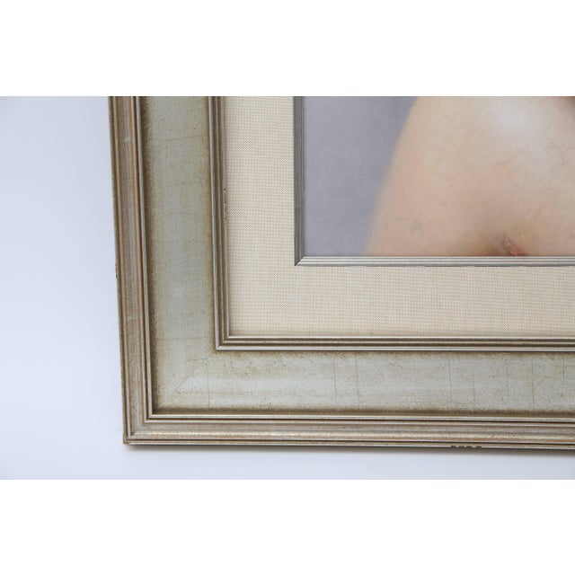 Paper Pastel Portrait of a Woman by Listed Artist Robert Louis Raymond Duflos For Sale - Image 7 of 11