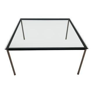 Large Bauhaus Style Modern Glass Dining Table For Sale