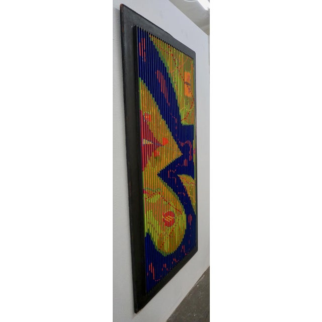 Abstract Abstract Relief Painting by Louis Nadalini For Sale - Image 3 of 8