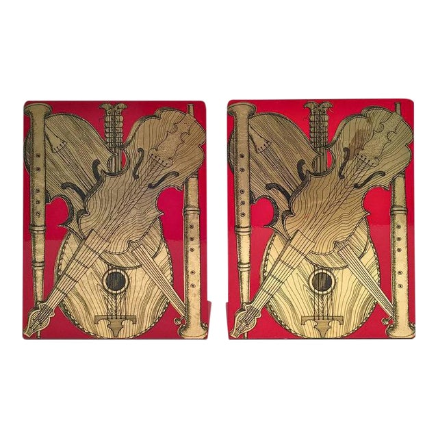 Fornasetti Strumenti Musicali Bookends - A Pair For Sale