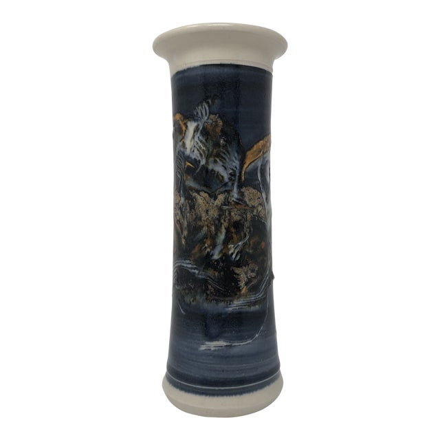 Signed Abstract Studio Pottery Vase For Sale