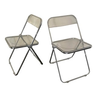 Castelli Lucite Folding Chairs - a Pair For Sale