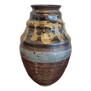 1970s Rustic Alan Vigland Studio Pottery Vase For Sale
