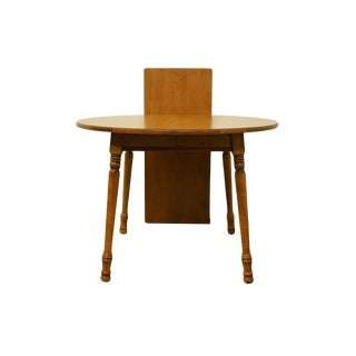 20th Century English Traditional Tell City Round Dining Table For Sale