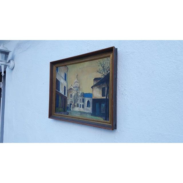 1964 Rodger Moprisk Rural Street Scene Oil Painting For Sale - Image 4 of 9