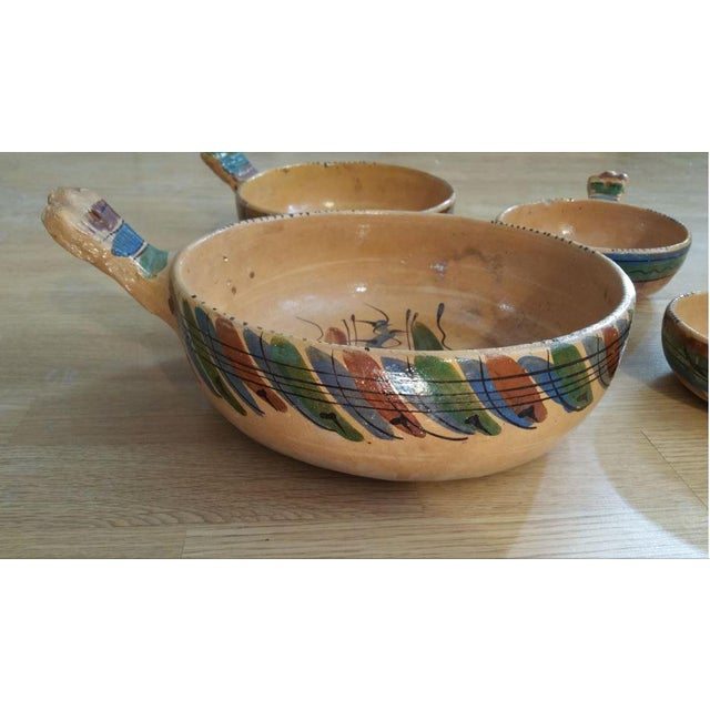 Here's a rustic set of 4 Mexican nesting bowls meant as serving pieces for chili or other hearty meals. These are terra...