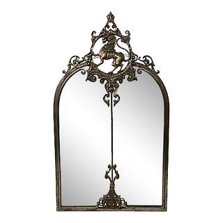 Antique Lion Crest Wall Mirror For Sale