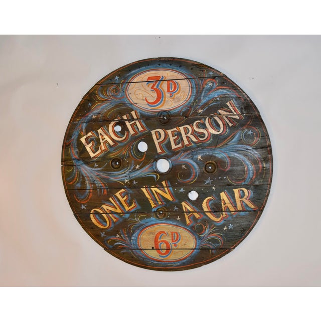 English 20th C English Decorated Spool Sign For Sale - Image 3 of 5