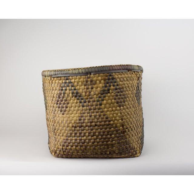 African Vintage Tribal Basket For Sale - Image 3 of 12