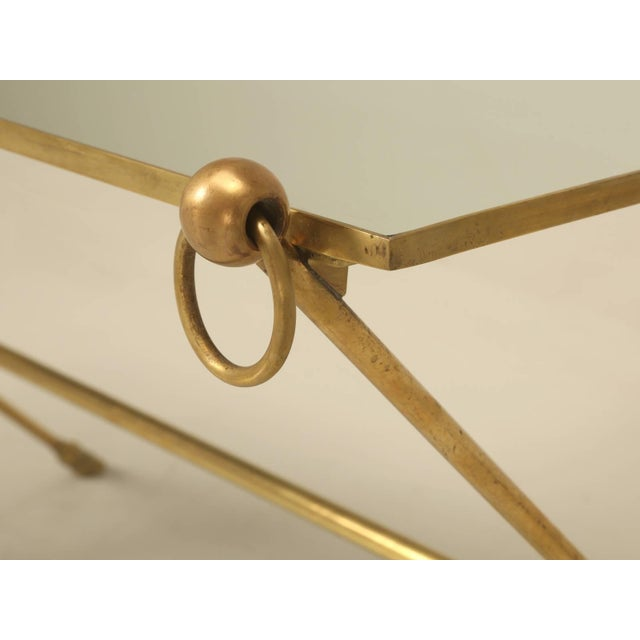 French Mid-Century Modern Coffee Table With Bronze Hoof Feet For Sale - Image 4 of 9
