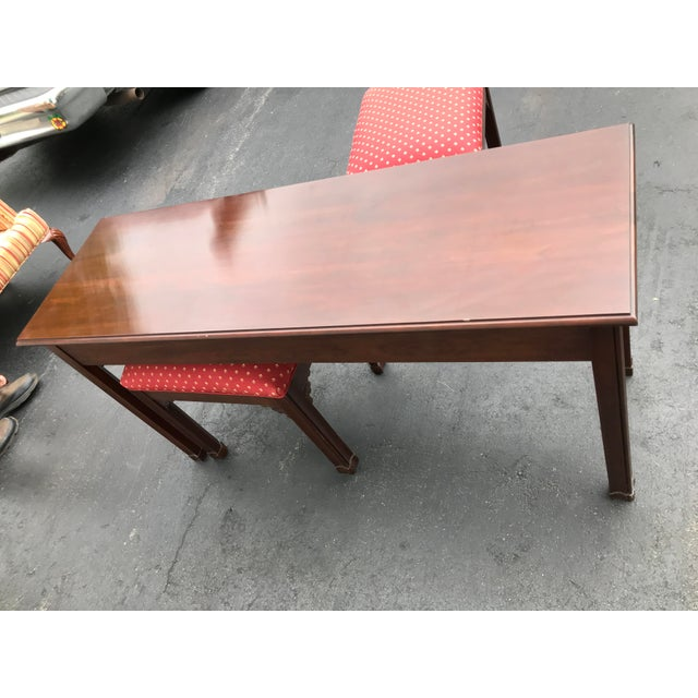 Harden Chippendale Sofa Table Credenza With Benches a Pair For Sale - Image 9 of 13