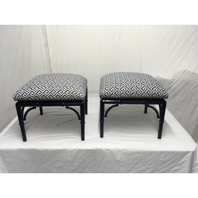 1970s Tomlinson Faux Bamboo Benches, a Pair For Sale - Image 5 of 8