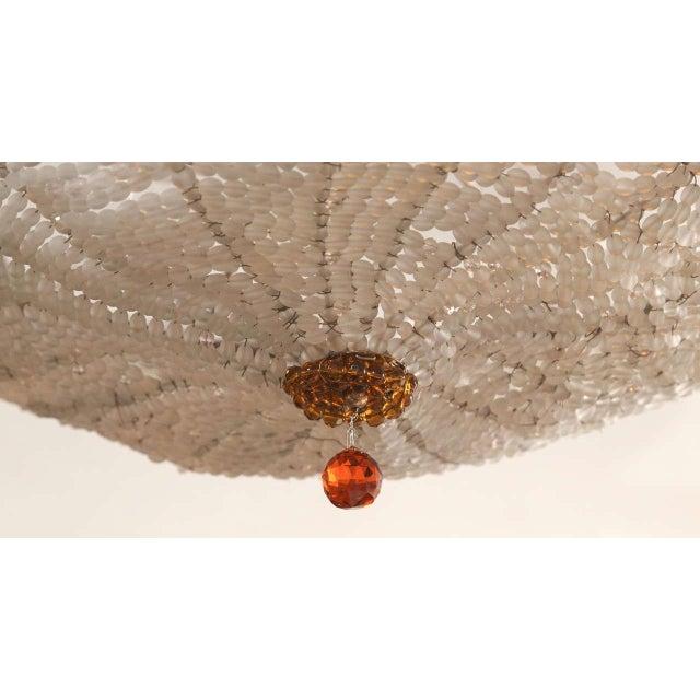 Art Deco Art Deco Rene Lalique Style, Crystal Basket Chandelier For Sale - Image 3 of 12