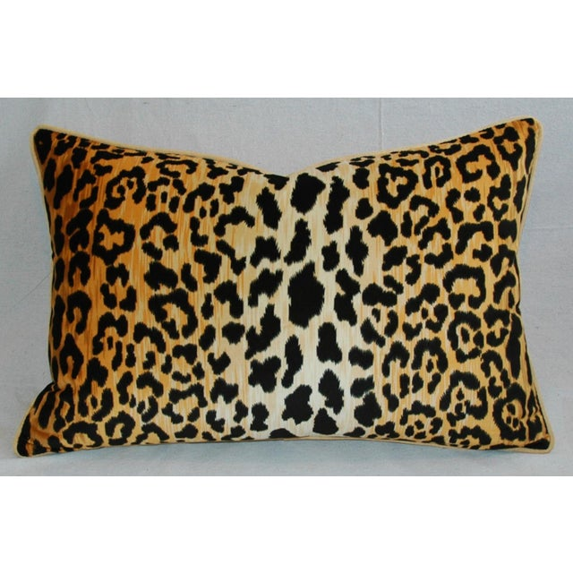 "Hollywood Glam Leopard Spot Safari Velvet Pillows 26"" X 18"" - Pair For Sale - Image 4 of 14"