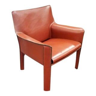 1980s Vintage Cassina Cab Lounge Chair For Sale