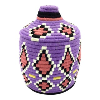 Moroccan Wool Basket For Sale