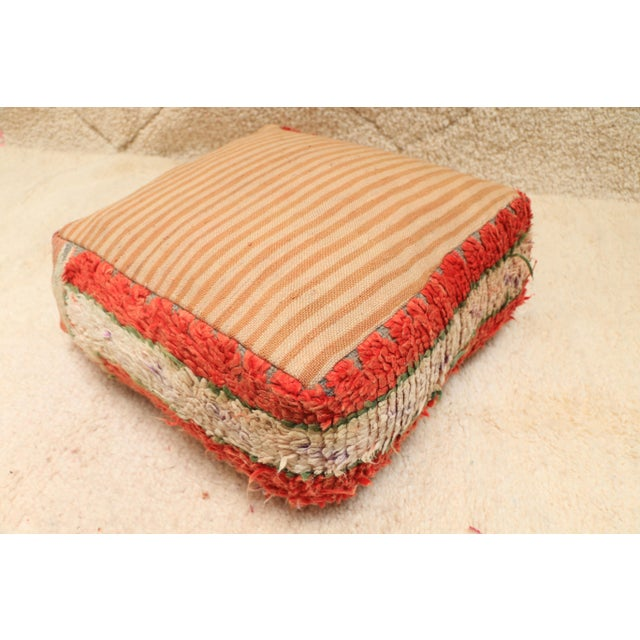 Moroccan Vintage Unstuffed Pouf For Sale - Image 11 of 12