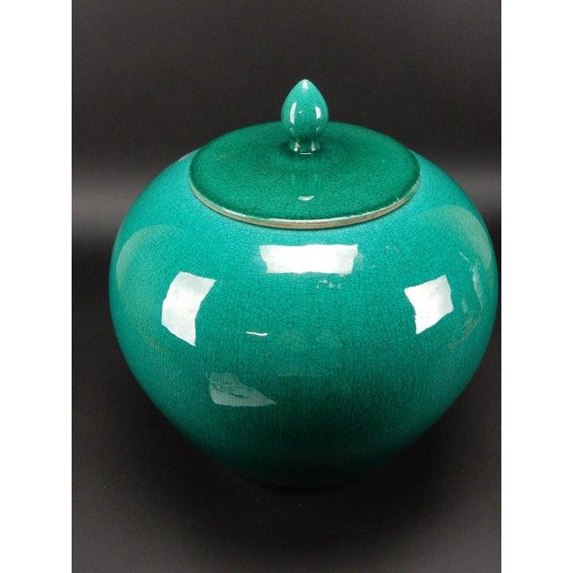 Chinese Crackle Glazed Ginger Jar - Image 3 of 11