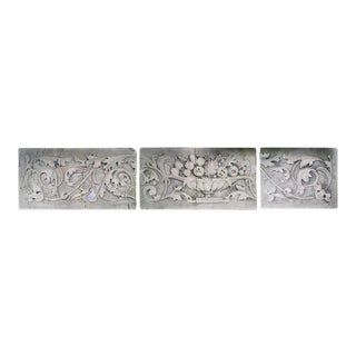 Early 20th Century Carved Limestone Decorative Building Frieze For Sale