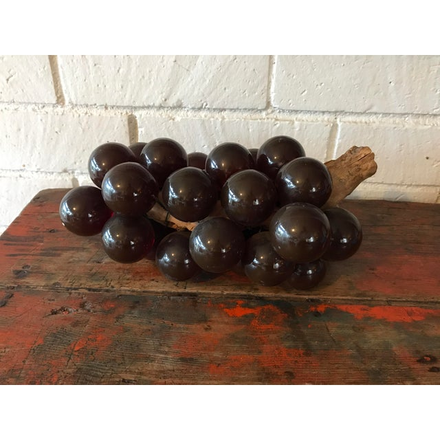 Vintage Brown Resin Grape Cluster For Sale - Image 5 of 10