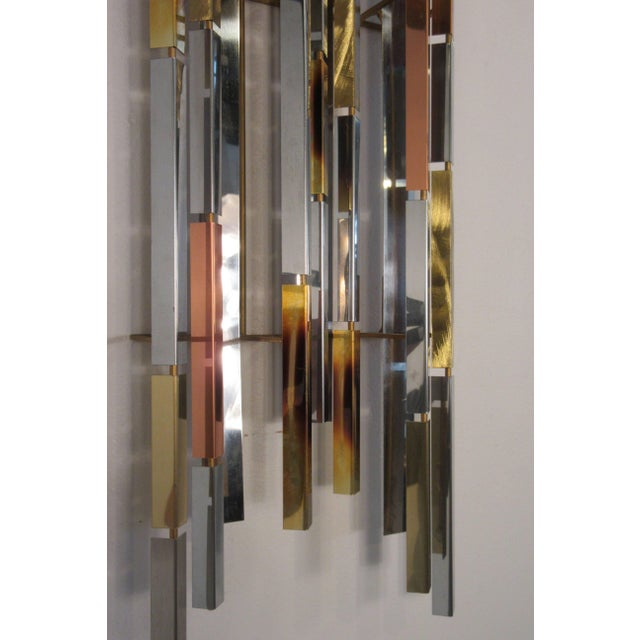 Metal 1970s MIX Metal Wall Sculpture For Sale - Image 7 of 11