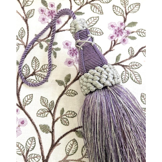 Key Tassel in Amethyst and Gray With Ruche Trim For Sale - Image 9 of 11
