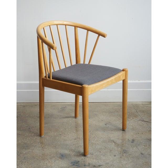 Sensational Danish Beech Arm Chair Design Finn Ostergaard Lindebjerg Unemploymentrelief Wooden Chair Designs For Living Room Unemploymentrelieforg
