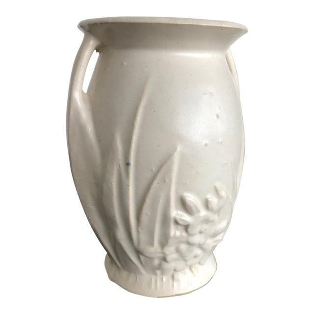American Arts & Crafts White Ware Vase - Image 1 of 6