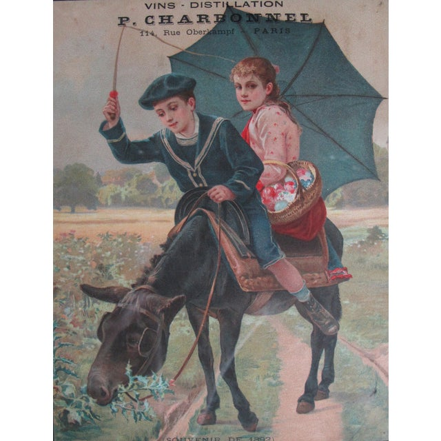 Date: 1892 Size: 7.25 x 9.5 inches without frame, 13.75 x 15 inches with frame Notes: Poster, Label, Matted and Framed...