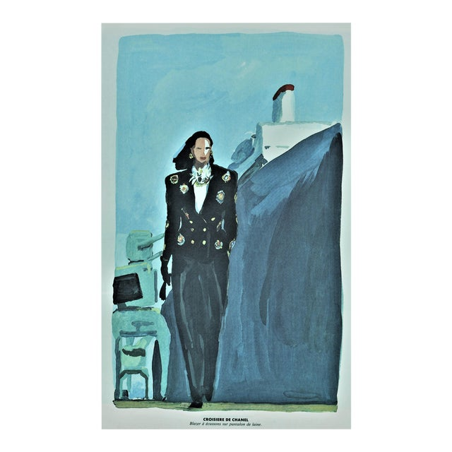 Matted Vintage Chanel Print 1980s For Sale