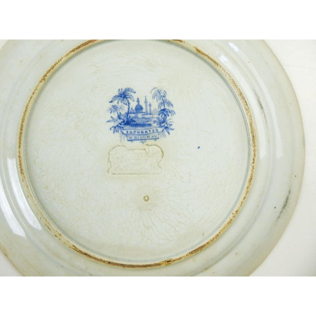 Antique Blue & White Transferware Plate Euphrates Pattern For Sale - Image 4 of 5