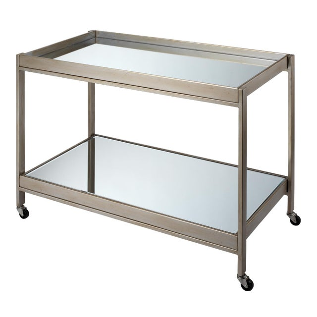 Transitional Stella Bar Cart For Sale - Image 3 of 3