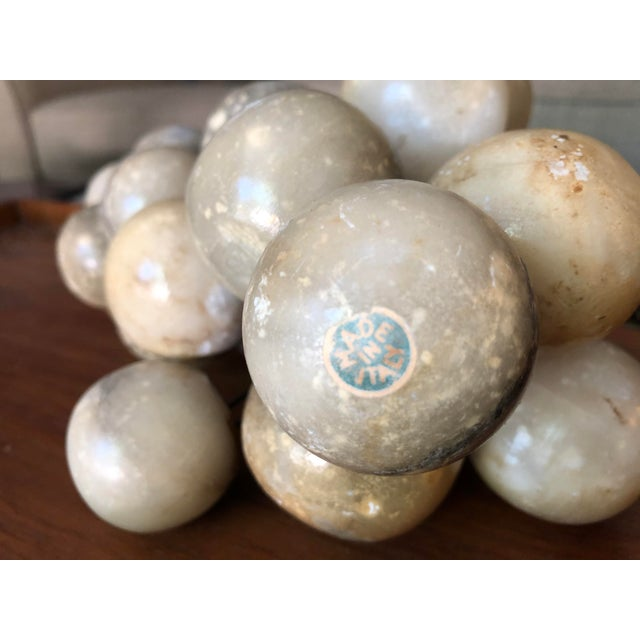Mid 20th Century Vintage Alabaster Large Grape Cluster Made in Italy For Sale - Image 5 of 10