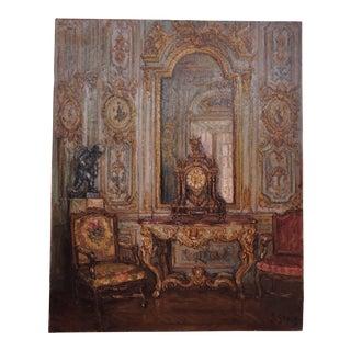 Interior Oil On Canvas