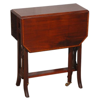 English Traditional Drop Leaf End Table For Sale